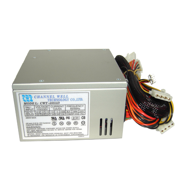 Блок питания ATX 480W CWT-480AD P4 20+4 READY FULLY SAFETY APPROVAL